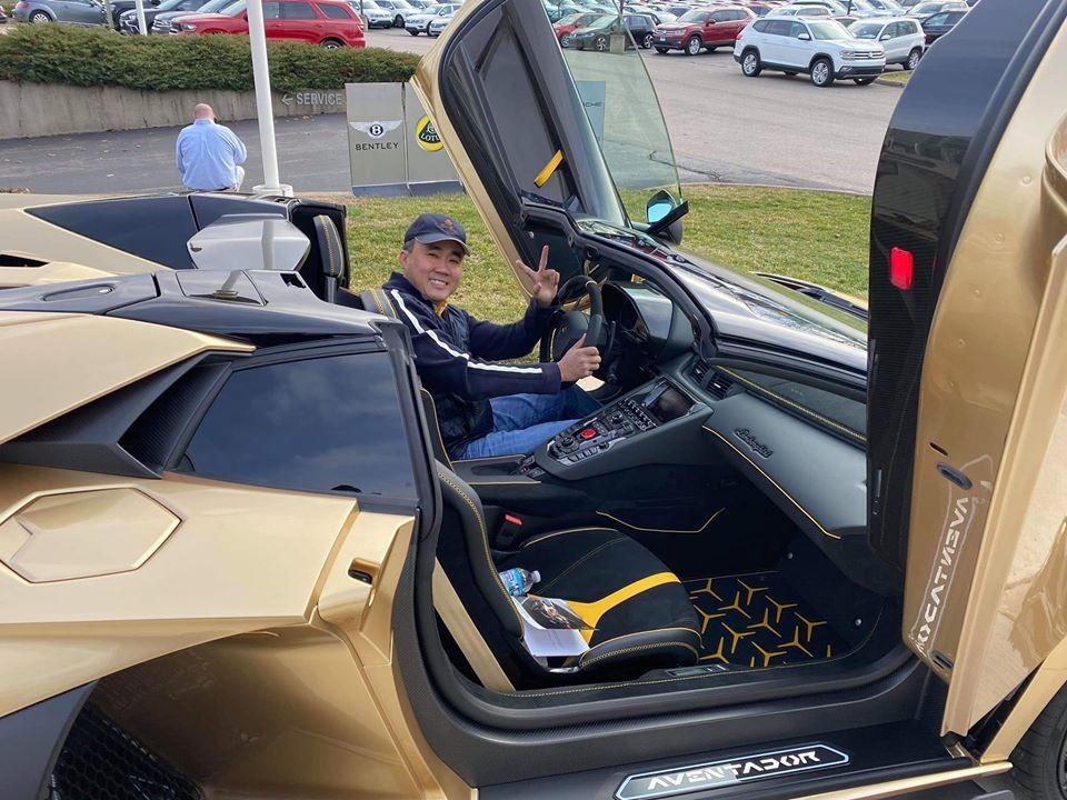 Trưởng nhóm siêu xe Gia Lai Team tậu Lamborghini Aventador SVJ Roadster