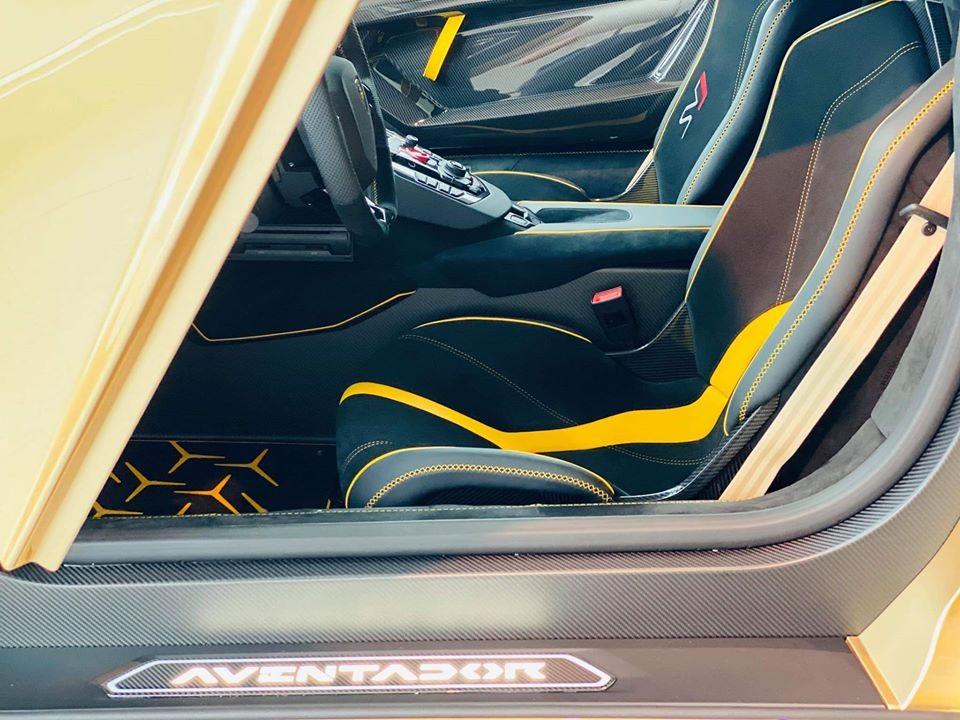 Nội thất chiếc siêu xe Lamborghini Aventador SVJ Roadster dự kiến sẽ về Việt Nam để tham dự hành trình Asean Rally 2020