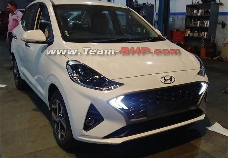 Thiết kế đầu xe của Hyundai Aura 2020 giống với Grand i10 mới