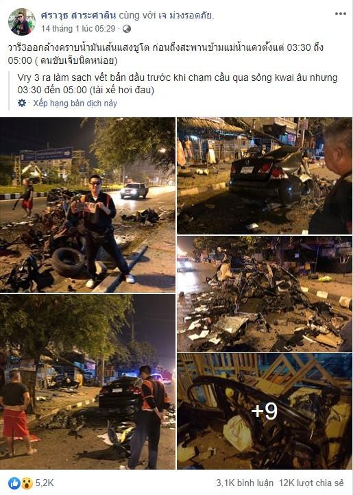 Hình ảnh hiện trường vụ tai nạn lập tức thu hút sự chú ý trên mạng