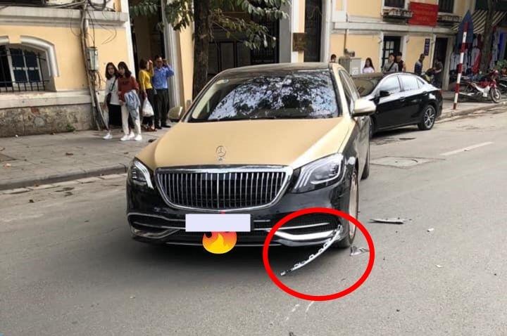 Thiệt hại của chiếc xe siêu sang Mercedes-Maybach S-Class