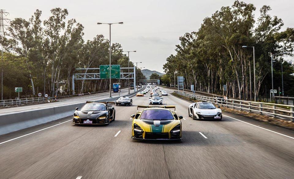 Dàn siêu xe McLaren trên đường phố Hồng Kông