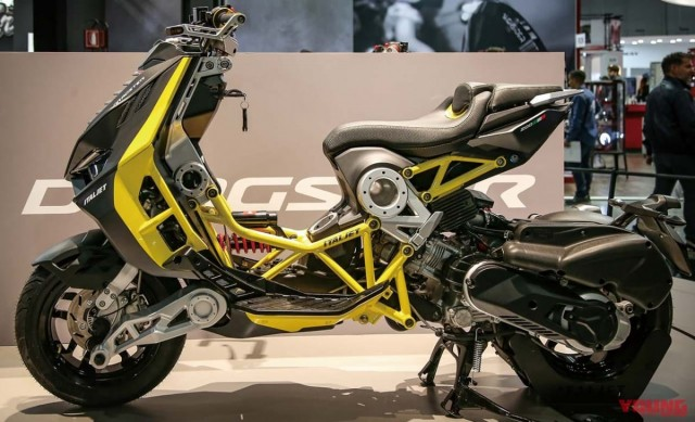 The car has all the important parts to operate at EICMA 2019