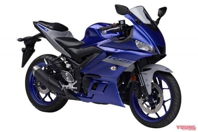 Yamaha R25 2020 màu xanh GP