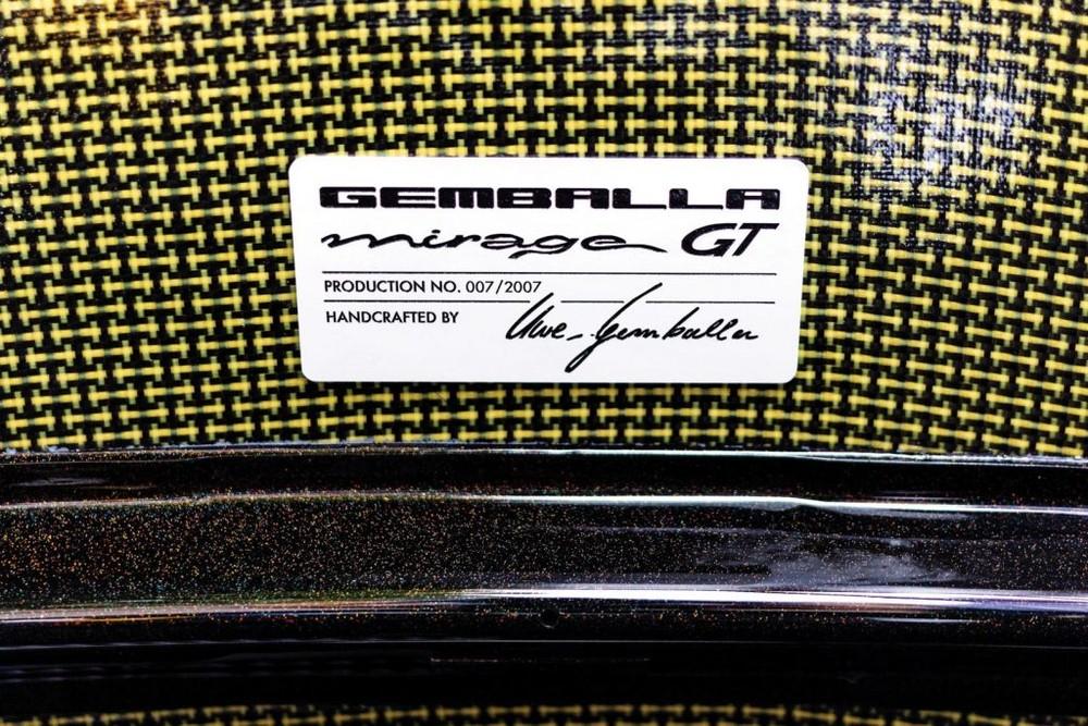 Còn đây là bảng chứng nhận mẫu siêu xe Gemballa Mirage GT này có số thứ tự 007
