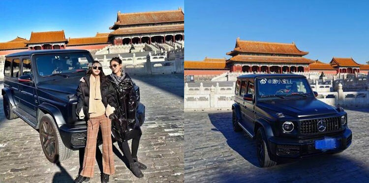 The drive of Tieu Ngoc Ngoc inside the Forbidden City ruins makes the Chinese online community angry