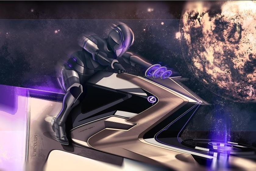 Lexus Zero Gravity is basically a space bike