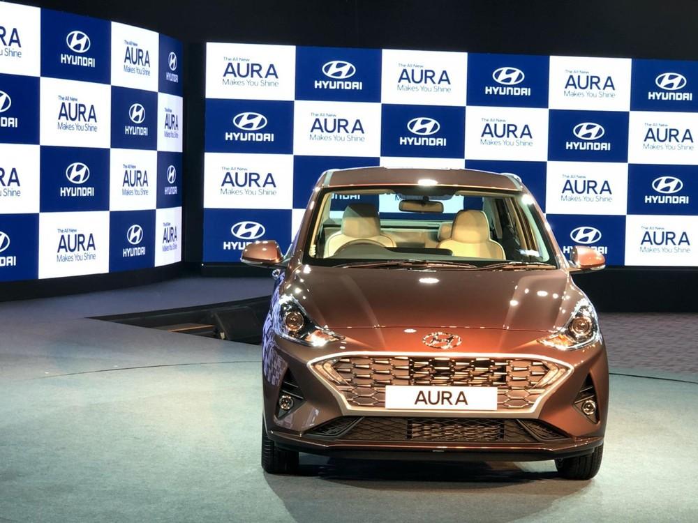 Thiết kế đầu xe của Hyundai Aura 2020 giống Grand i10 mới