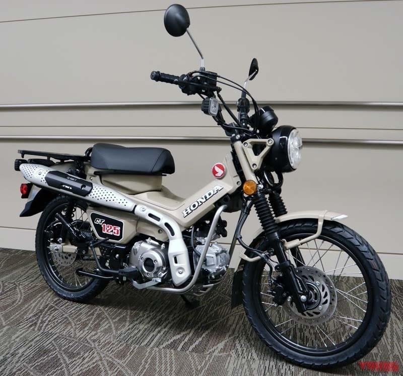 Hình ảnh được cho là Honda CT125 phiên bản thương mại sắp được Honda ra mắt