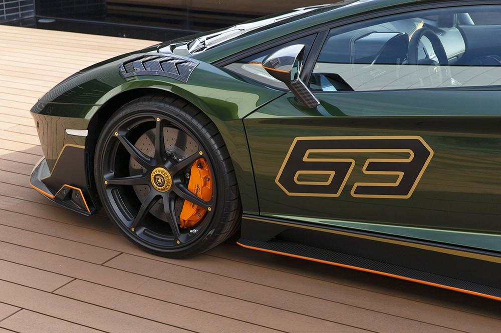 Trên các vòm bánh xe của Lamborghini Aventador S Taiwan Edition có thêm các khe gió rất cá tính nhằm để tạo sự khác biệt so với bản tiêu chuẩn.