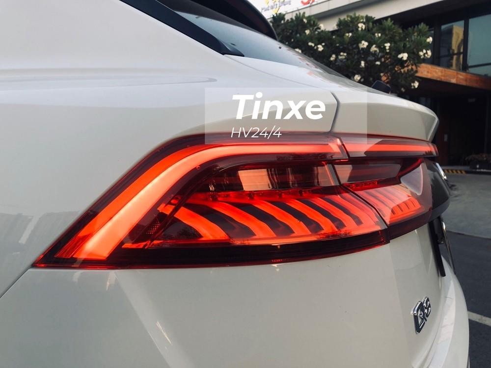 Cận cảnh đèn hậu LED của SUV hạng sang Audi Q8 2019 rất đẹp mắt. Phần đèn này có hiệu ứng chạy rất độc đáo của hãng Audi.