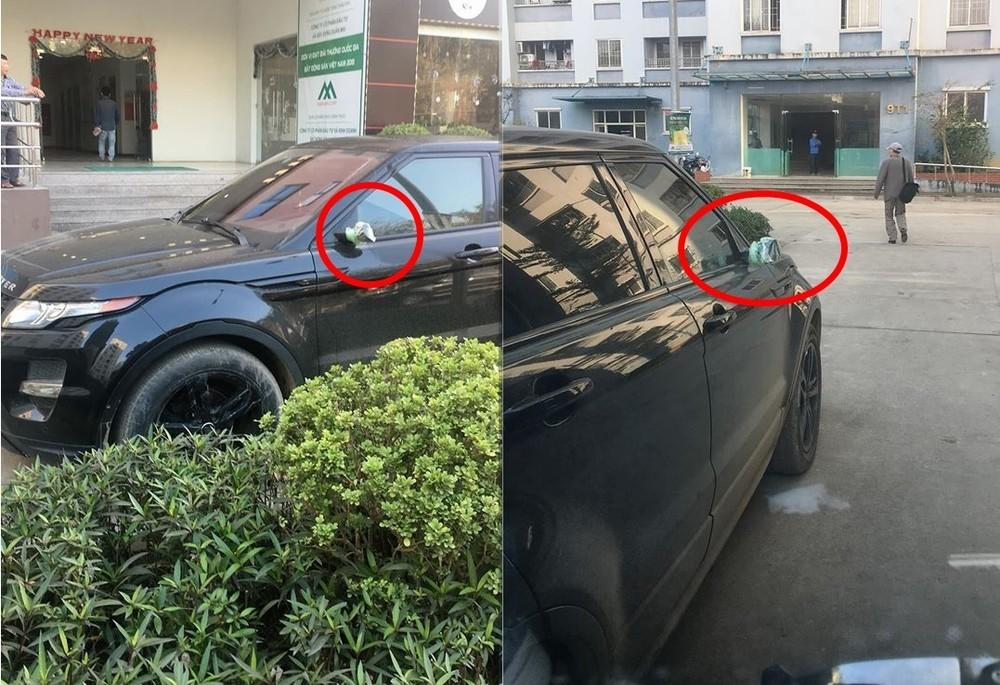 Range Rover Evoque bị kẻ gian vặt cặp gương hơn trăm triệu đồng tại chung cư ở Hà Nội