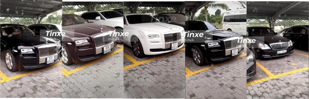 Dàn xe siêu sang Rolls-Royce Ghost và Maybach 62S tại garage ở Hà Nội