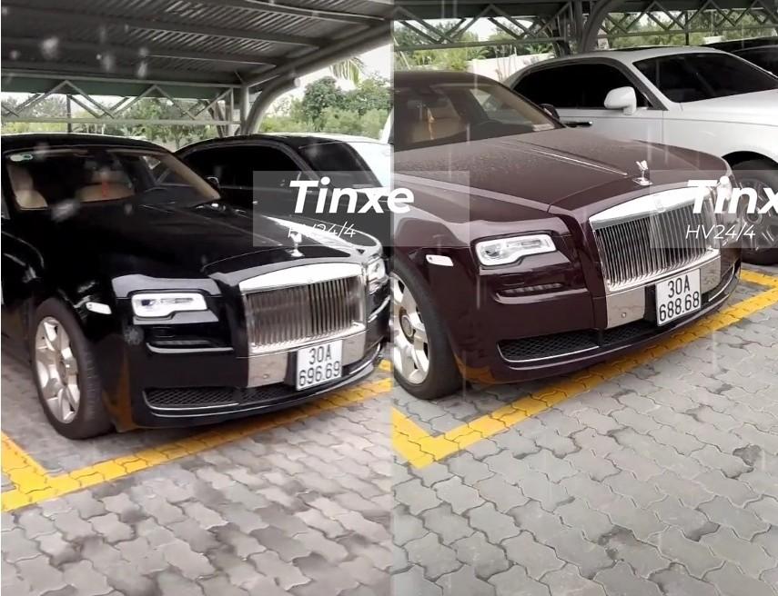 Hai chiếc xe siêu sang Rolls-Royce Ghost này có biển số cực đẹp của đầu số Hà Nội