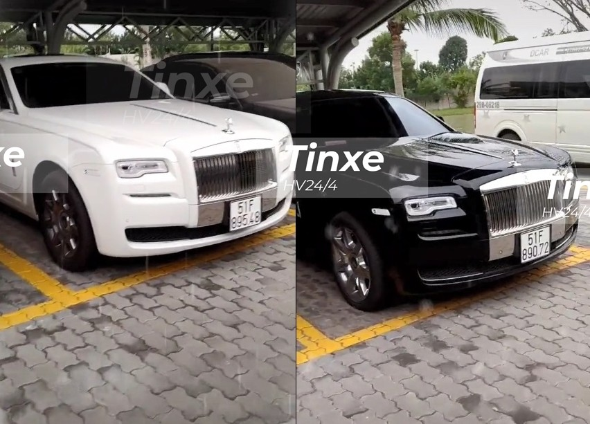 Còn hai chiếc Rolls-Royce Ghost này mang biển Sài thành