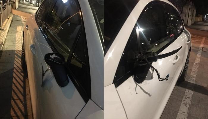 Cặp gương chiếu hậu của xe Porsche Macan S này đã bị kẻ gian lấy đi