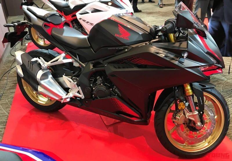 Honda CBR250RR 2020 sẽ được trang bị vành màu vàng nổi bật