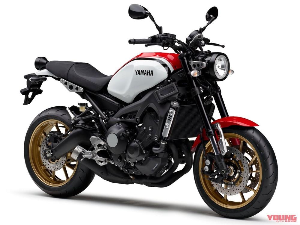 Yamaha XSR900 2020 màu trắng đỏ nổi bật cùng cặp vành mâm đúc màu vàng đồng