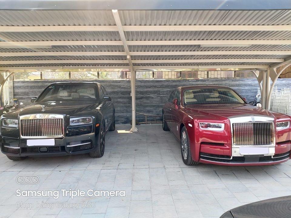 Choáng ngợp với hình ảnh Rolls-Royce Cullinan và Rolls-Royce Phantom VIII đỗ cạnh nhau trong bãi gửi xe