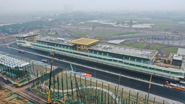 Pit Building - where running the race was almost completed in mid January 2020