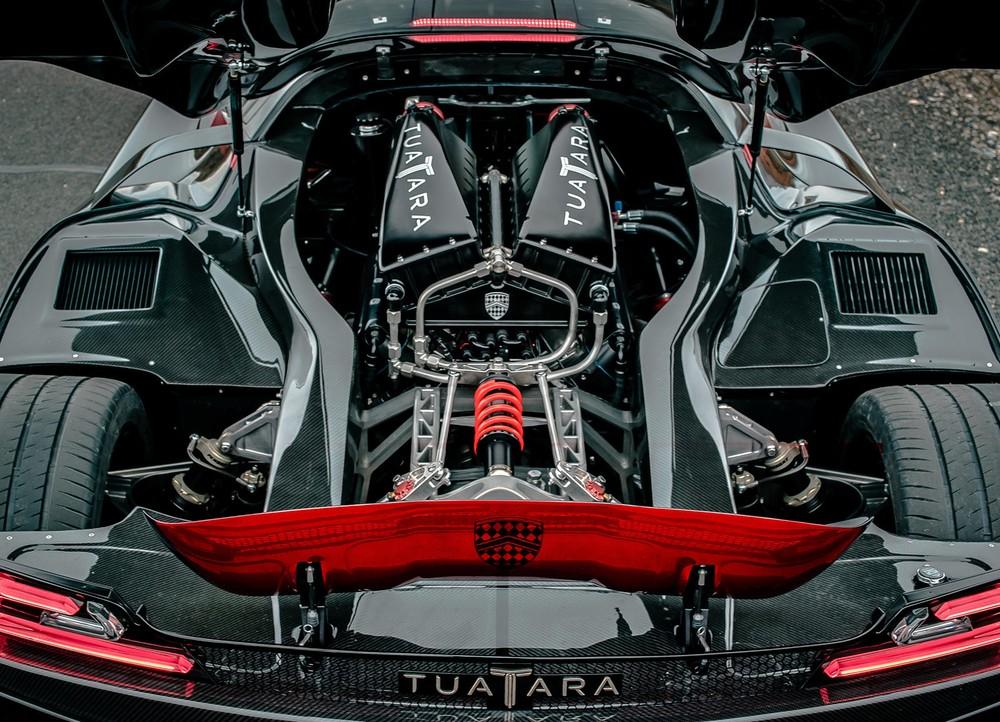 Hệ thống động cơ củahypercarSSC Tuatara 2020