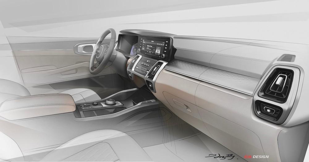Kia Sorento 2021 được trang bị mặt táp-lô mới