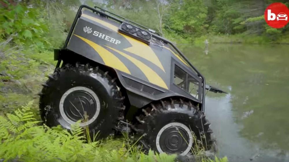 Sherp có thể dễ dàng di chuyển trên mặt đất và mặt nước