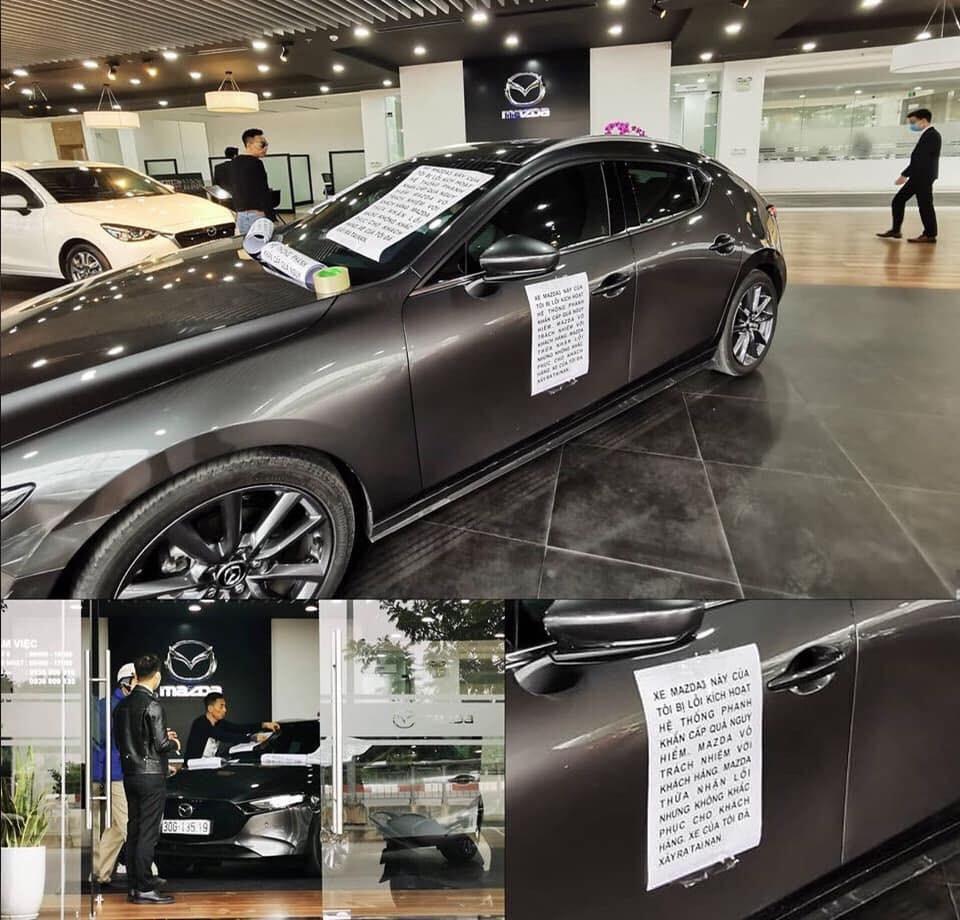 Một chiếc Mazda3 2020 được cho là bị lỗi hệ thống phanh tự động SBS nằm trong một đại lý