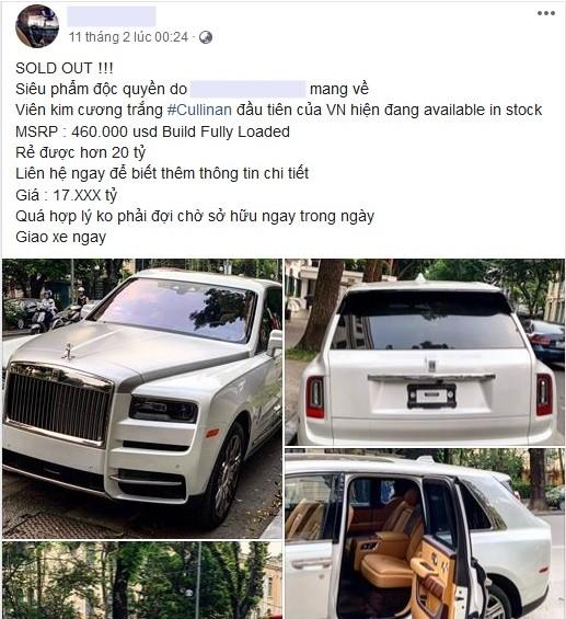 Thông tin bán xe Rolls-Royce Cullinan