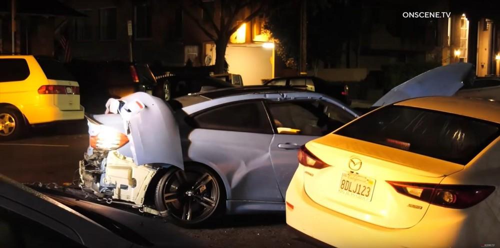 Chiếc BMW M4 hư hỏng nặng sau vụ tai nạn