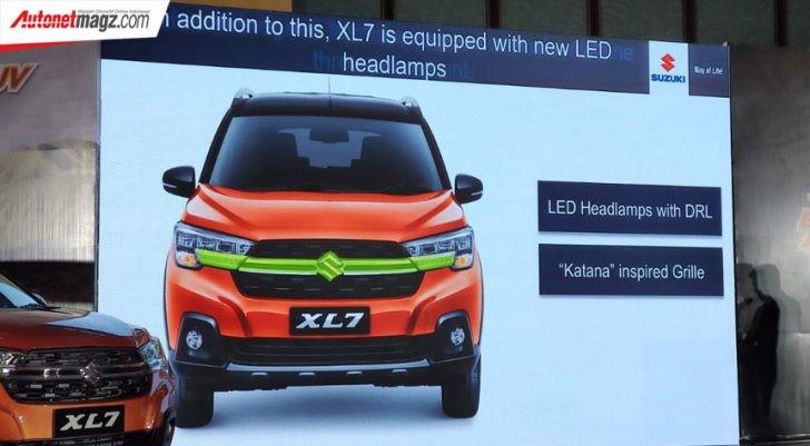 Nan mạ crôm trên lưới tản nhiệt của Suzuki XL7 2020 lấy cảm hứng thiết kế từ kiếm Nhật Bản