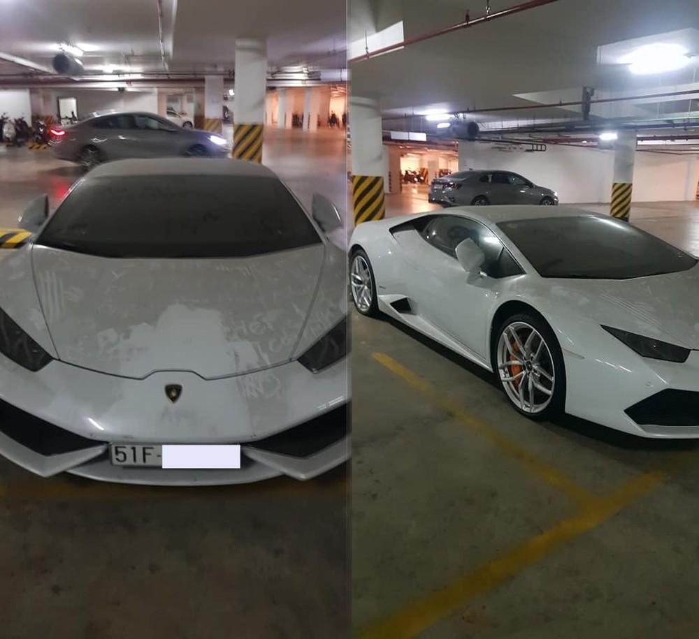 Lamborghini Huracan từng rao bán 11,5 tỷ đồng bị bắt gặp phủ bụi dày đặc ở ngoại thất trong hầm gửi xe