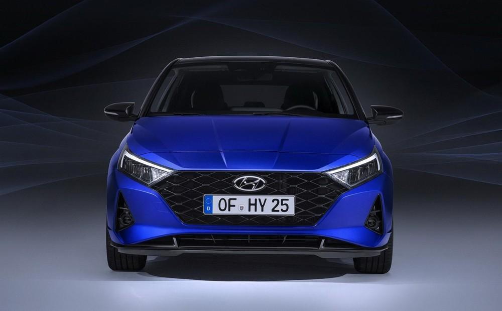 Close-up design of the Hyundai i20 2021 car