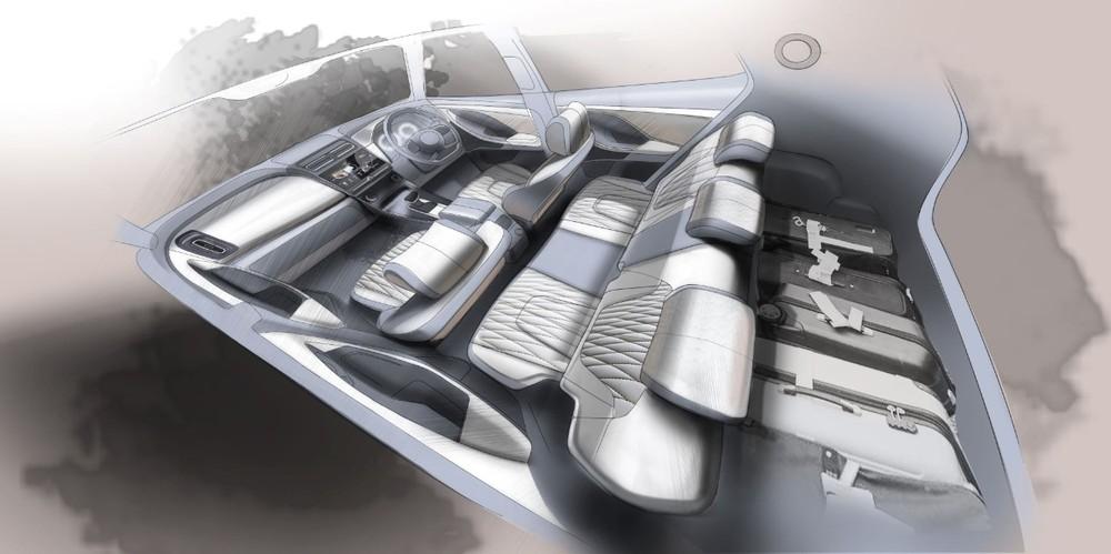 Hình ảnh phác họa nội thất chính thức của Hyundai Creta 2020