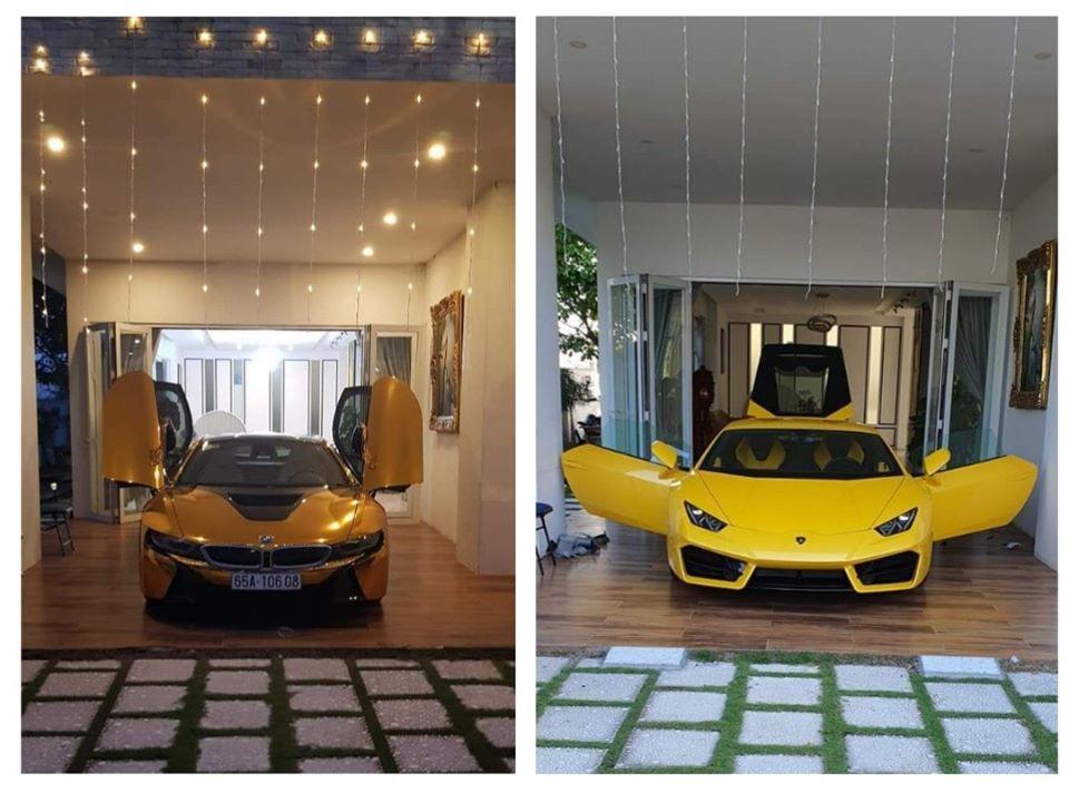 Trước khi tậu siêu xe Lamborghini Huracan LP580-2 màu vàng, doanh nhân Cần Thơ từng mua BMW i8 và dán đề-can crôm vàng