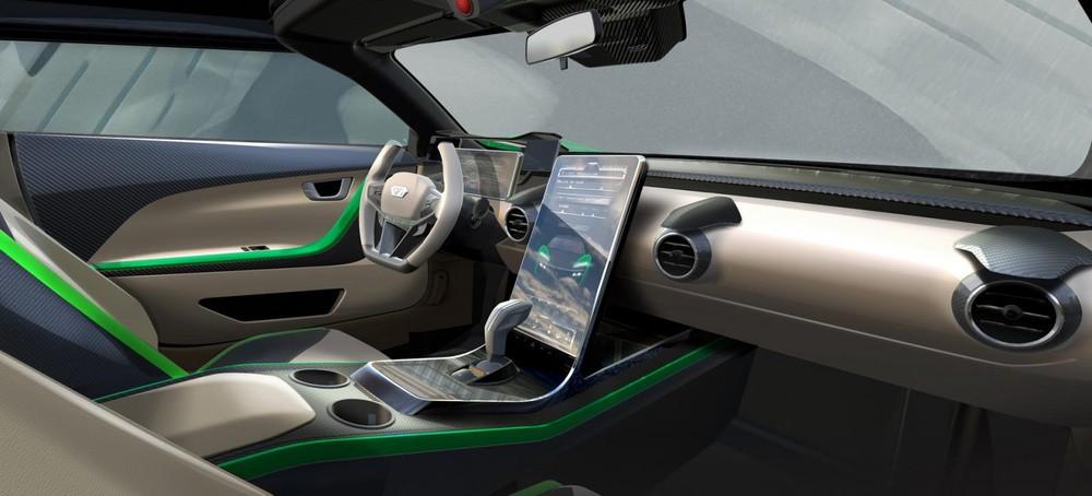 Nội thất xe cho thấy công nghệ tân tiến