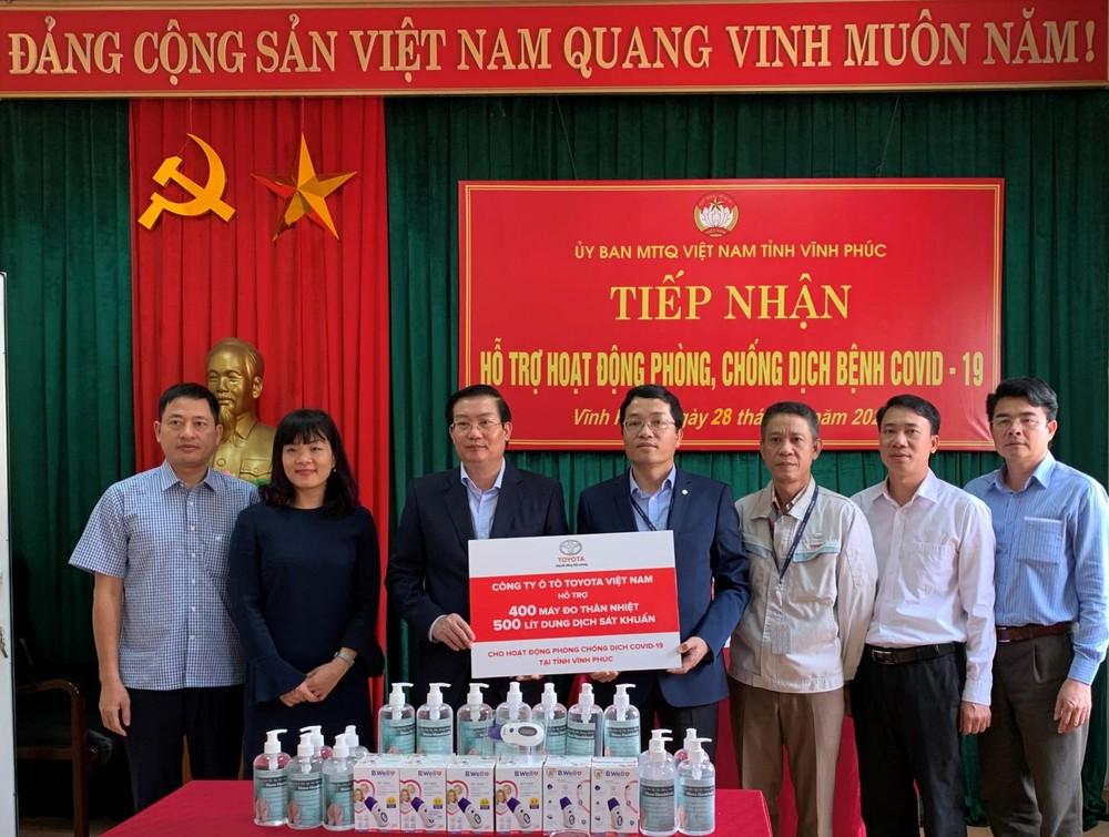 Tổng mức hỗ trợ của Toyota Việt Nam dành cho tỉnh Vĩnh Phúc lên tới 1,1 tỷ đồng