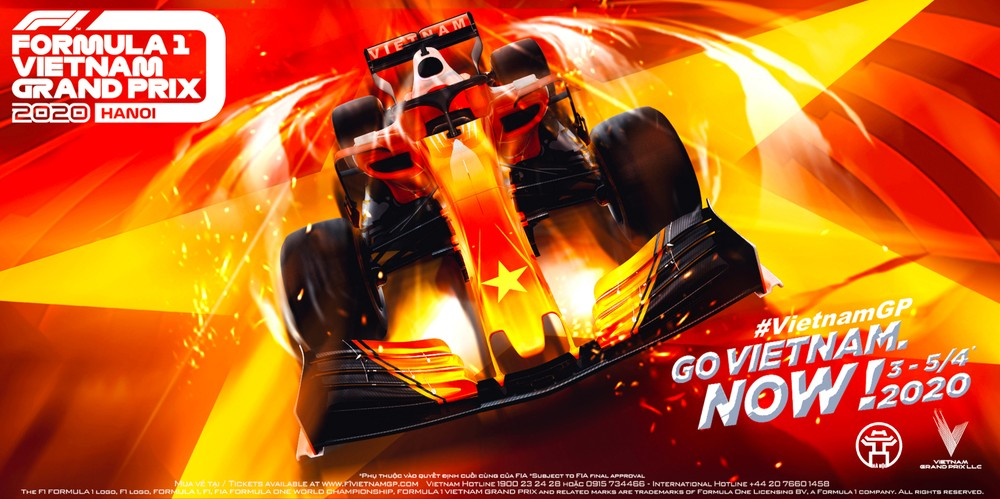 According to the schedule, F1 Grand Prix Vietnam 2020 will take place from 3/4 to 5/4