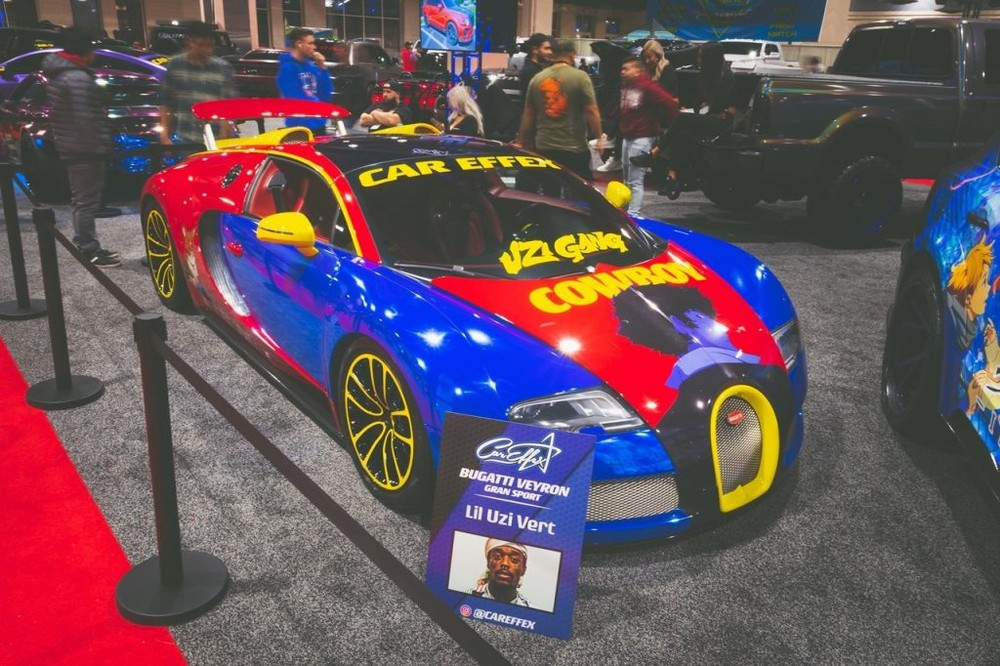 A Fire With The Modified Bugatti Veyron Supercar Of Rapper Lil Uzi Vert Electrodealpro