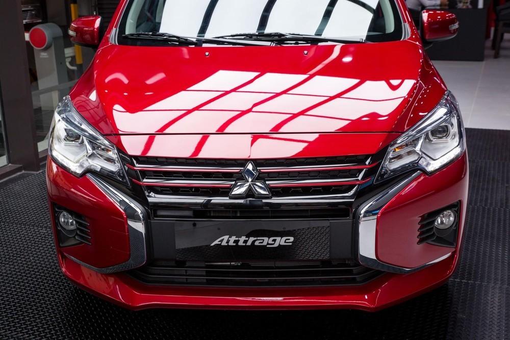 Đầu xe Mitsubishi Attrage 2020 có nhiều điểm mới so với bản cũ