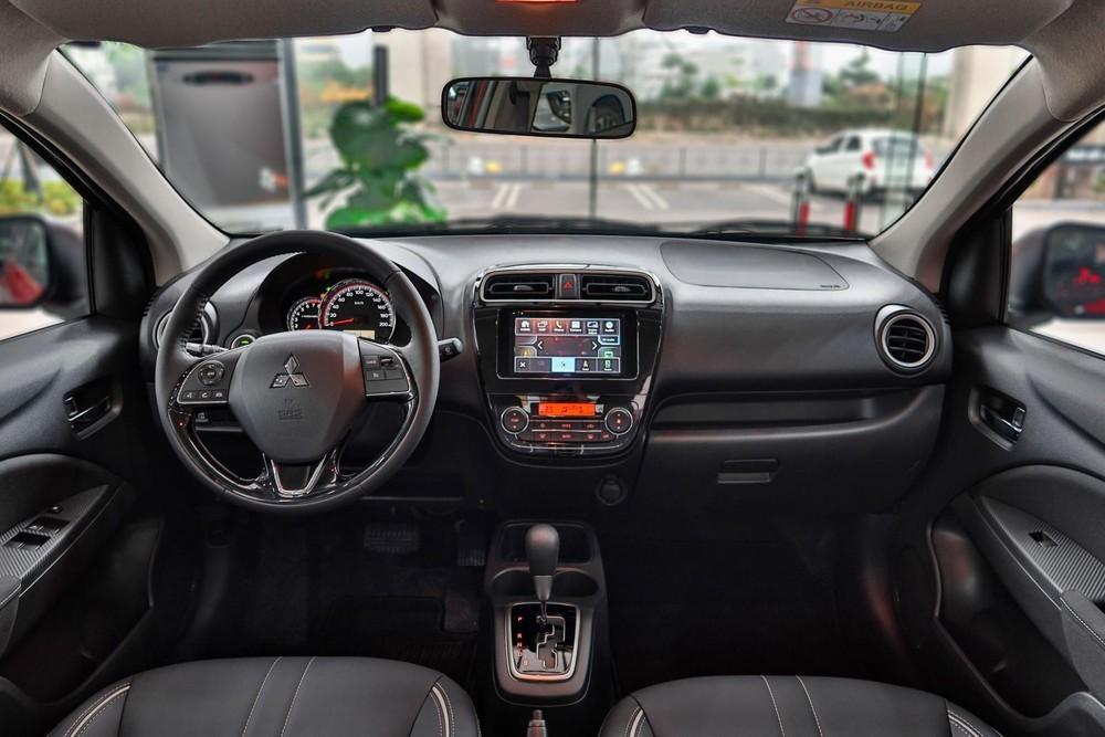 Nội thất của Mitsubishi Attrage 2020 không có nhiều thay đổi so với phiên bản cũ