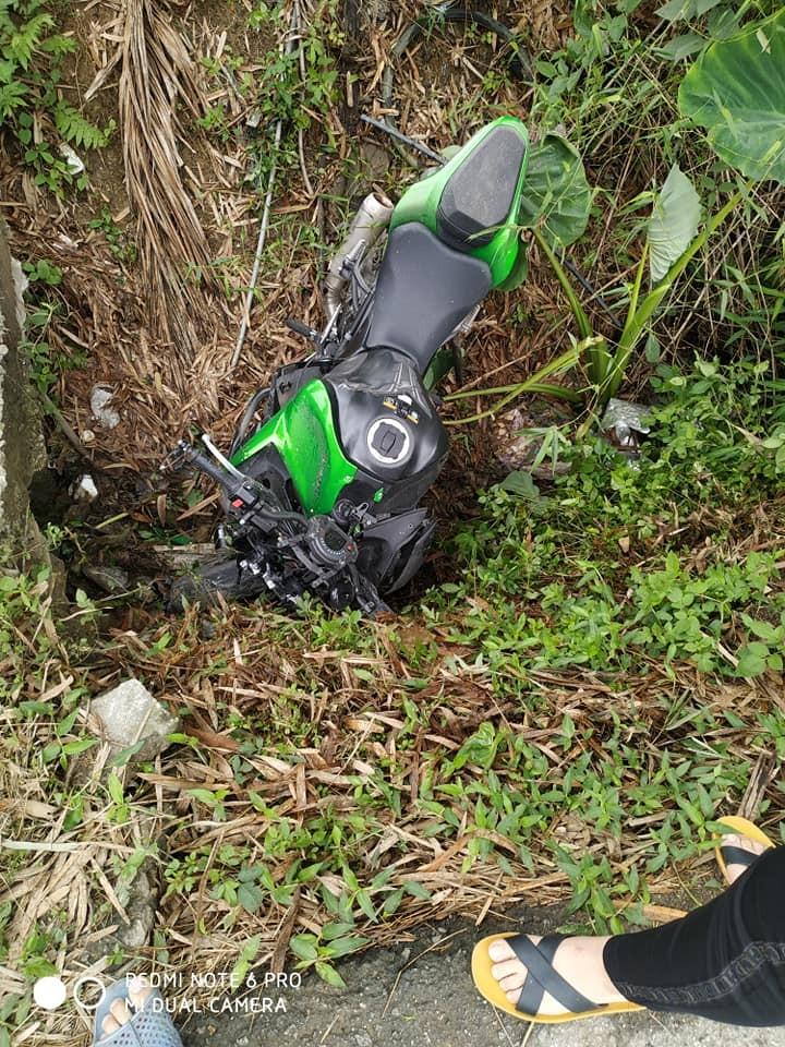 Hiện trường vụ tai nạn Z900 tại Bắc Kạn khiến chiếc xe mô tô hư hỏng nặng nề