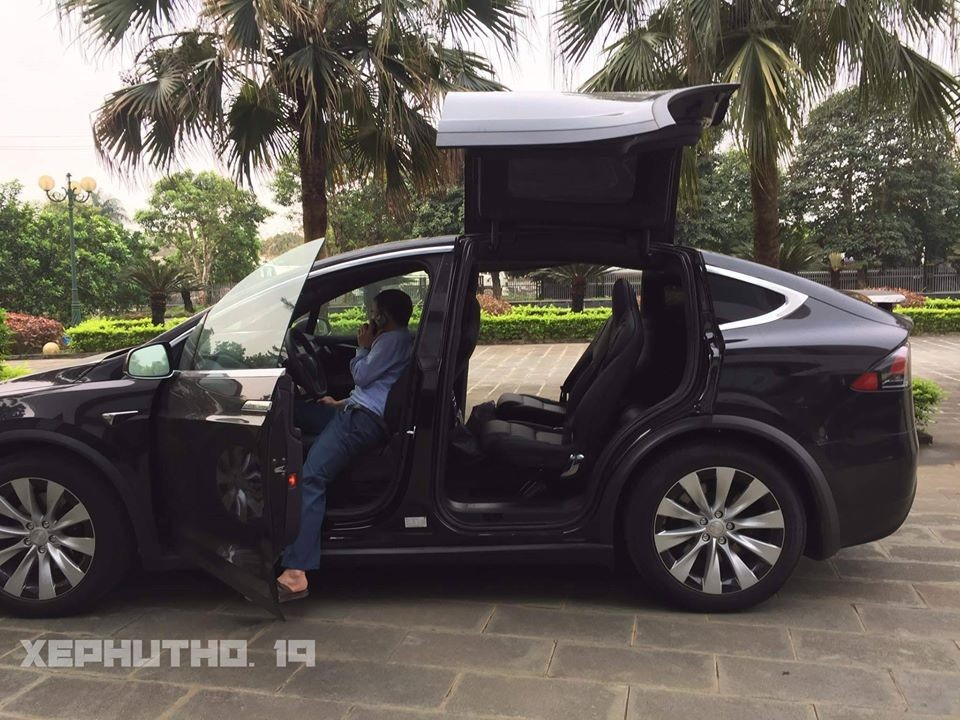 The Tesla Model X has a unique wing opening pattern for the rear seats that creates a unique look for this electric SUV