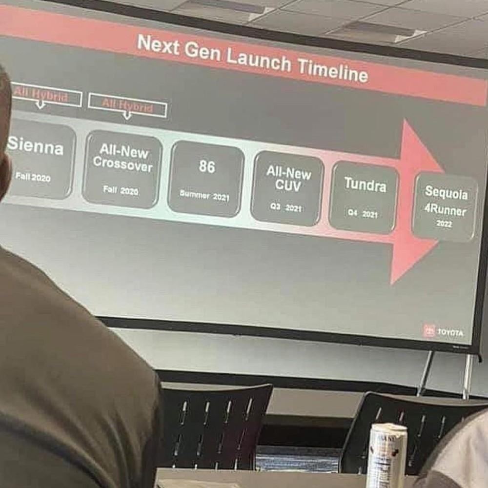 Hình ảnh chụp trong cuộc họp đại lý, hé lộ kế hoạch ra mắt sản phẩm của Toyota và Lexus