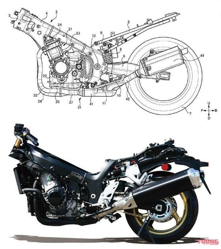 Khung sườn Suzuki Hayabusa thế hệ mới sẽ gọn và nhẹ hơn