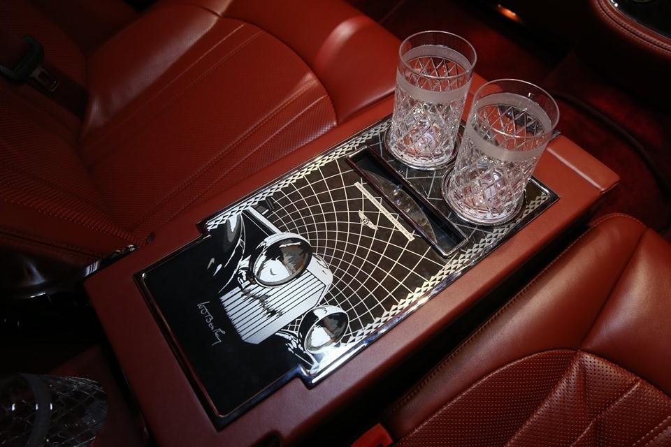 Tủ pha cocktail phát sáng của Bentley Mulsanne W.O. Edition