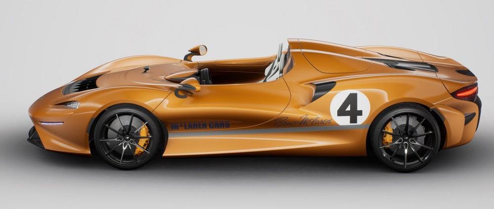 Xe có bộ áo màu cam Anniversary và con số 4 giống với chiếc xe đua M6A dành chiến thắng tại giải Can-Am 1967