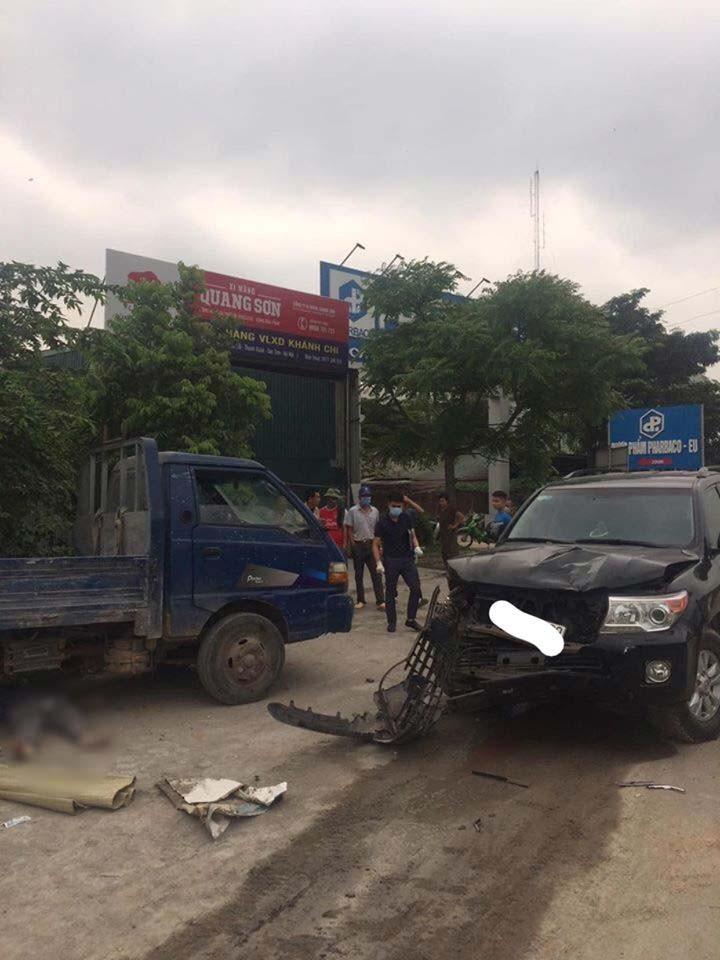 Hiện trường vụ tai nạn tại Sóc Sơn, Hà Nội