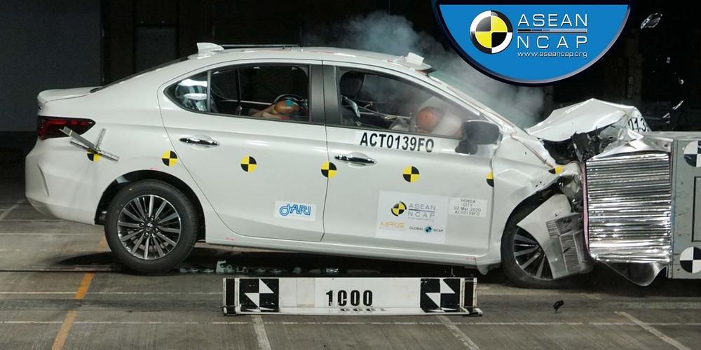 Honda City 2020 đạt điểm số an toàn 5 sao của ASEAN NCAP