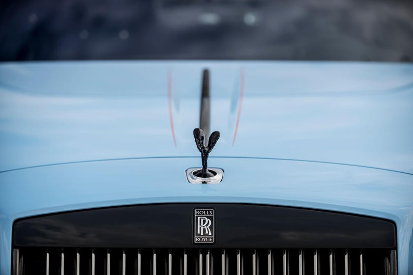 Some details painted black on Rolls-Royce Paradiso Collection models